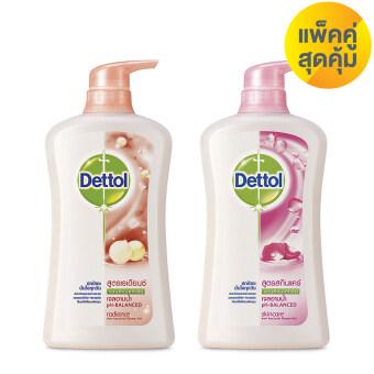 เดทตอล แพ็คคู่สุดคุ้ม เจลอาบน้ำ สูตรเรเดียนซ์ 500 มล และสูตรสกินแคร์ 500 มล Dettol Saving Pack Shower Gel Radiance 500 ml + Shower Gel Skincare 500 ml