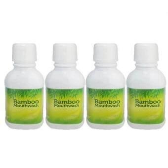 Hylife Bamboo mouthwash น้ำยาบ้วนปาก ขจัดคราบหินปูน ชา กาแฟ (300 ml.) 4 ขวด