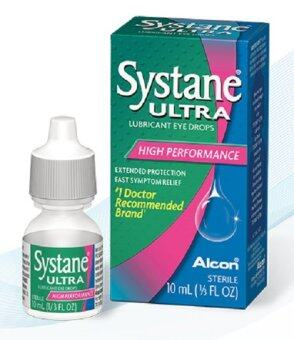 Systane Ultra LUBRICATING Eye Drops 10 ml น้ำตาเทียมสำหรับคนตาแห้งหยอดได้ตลอดวัน * 8 กล่อง