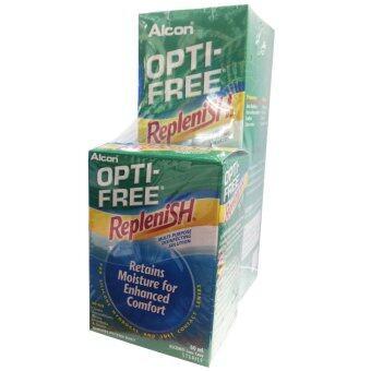 ALCON OPTI-FREE Replenish สูตรใหม่ ขนาด 300 ml. (1 กล่อง) แถมฟรี Opti free Replenish ขนาด 60 ml.