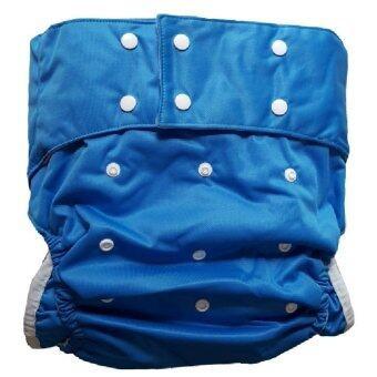 BABYKIDS95 กางเกงผ้าอ้อมผู้ใหญ่ ซักได้ กันน้ำ ฟรีไซส์ปรับขนาดได้ (สีน้ำเงิน)