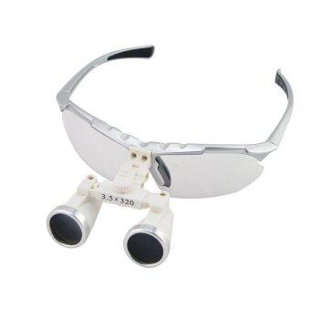 Silver 3.5X 320mm Dentist Dental Surgical Medical Binocular Loupes Optical Glass Loupe