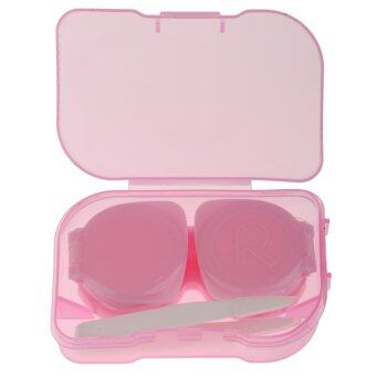BolehDeals Pink Mini Contact Lens Travel Kit Case Storage Holder Container