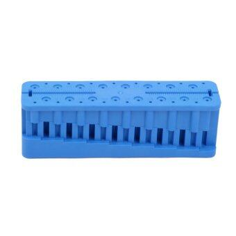 Professional Dental Measuring Block K-File H-File Holder Ruler Blue
