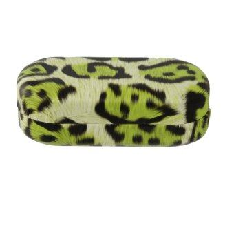 Fashion Leopard Pattern Contact Lens Storage Box Case Holder - Green - intl