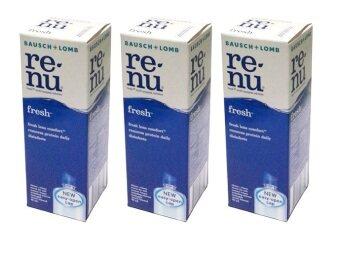 Bausch & Lomb น้ำยาล้างคอนแทคเลนส์ Renu Fresh Multi Purpose Solution 60 ml รีนิว เฟรช น้ำยาล้างคอนแทคเลนส์ 3 ขวด