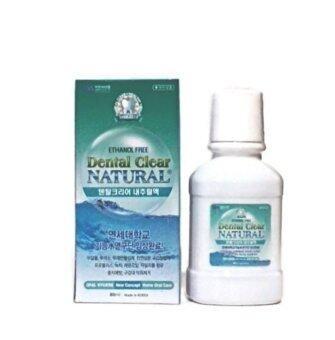 DENTAL CLEAR น้ำยาบ้วนปาก ผสมฟลูออไรด์ สูตรชาเขียว Dental Clear 80 ml