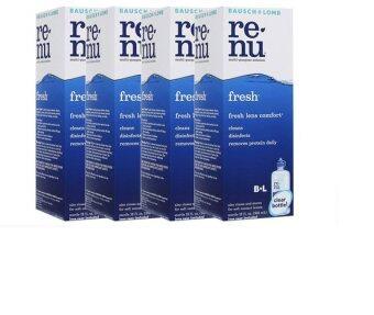 Renu Fresh Multi Purpose Solution 355 ml (4ขวด)แถมฟรี ขวดเล็ก60 ml 4ชุด