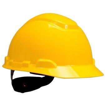 หมวกนิรภัย 3M Hard Hat, 4-Point Pinlock Suspension H-702R สีเหลือง