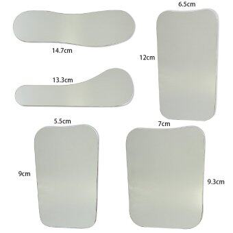 5PCS 1-side Dental Oral Clinic Stainless Steel Photographic Mirror Reflector - intl