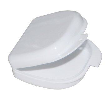 White Dental Orthodontic Retainer Denture mouthguard Case Box (Intl)