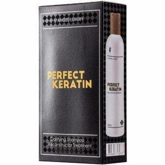 LANGEL Perfect Keratin Professional Use เพอร์เฟ็ค เคราติน 258ml.x2 (กล่องดำ)