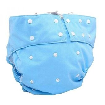 LukLoy Mens Adults Cloth Diapers for Incontinence Care Protective Underwear -Dual Opening Pocket Washable Adjustable Reusable Leakfree (Sky Blue) - intl