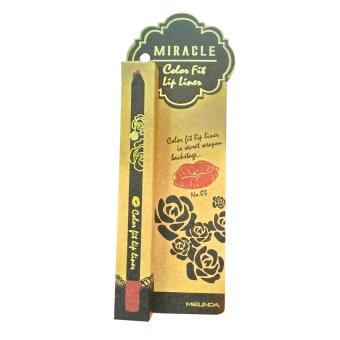 Mei linda Miracle Color Fit Lip Liner ลิปไลเนอร์เนื้อครีมกึ่งแมทท์ #03 Tiramisu (1 แท่ง)
