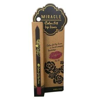 Mei Linda Miracle Color Fit Lip Liner #12 Red Wine ( 1 แท่ง)