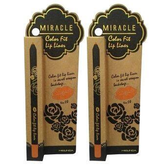 Mei Linda Miracle Color Fit Lip Liner #8 Peach ( 2 แท่ง)