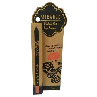 Mei Linda Miracle Color Fit Lip Liner #9 Pink Candy ( 1 แท่ง)