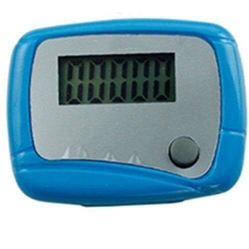 Mini Digital LCD Pedometer Run Step Walking Distance Calorie Counter (Blue)