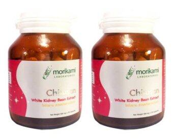 Morikami Chitosan white Kidney Bean Extract Vitamin Japan ไคโตซาน สารสกัดจากถั่วขาว ยับยั้งการดูดซึมไขมัน ลดน้ำหนัก ควบคุมระดับน้ำตาลในเลือด 30 แคปซูล x 2 ขวด