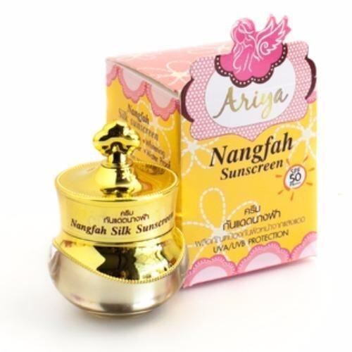 Nangfah Sunscreen SPF 50 PA+++ ครีมกันแดดนางฟ้า เนื้อใยไหม ขนาด 7 กรัม (1 กล่อง) ...