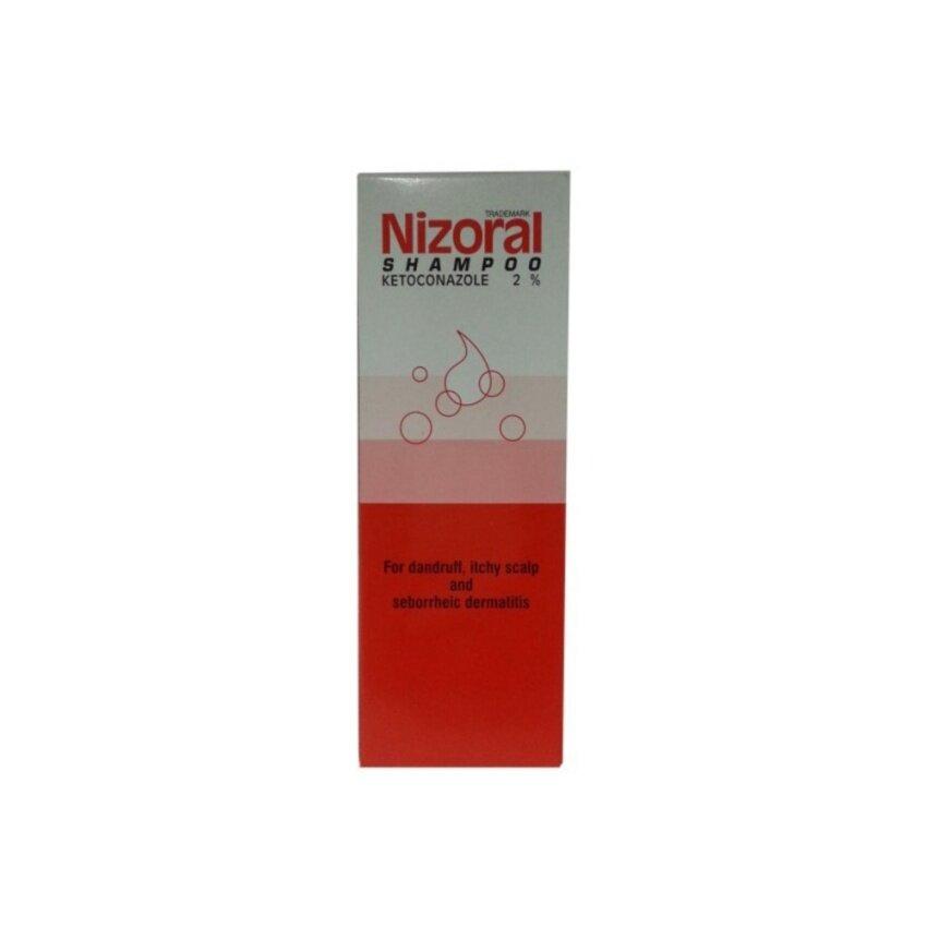 Nizoral Shampoo (Ketoconazole 2%) ไนโซรัล แชมพู คีโทโคนาโซล ขจัดรังแค อาการคันศรีษะ 100 ML.1 ขวด