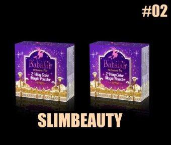 (No.02-ผิวสองสี/2ตลับ) Babalah แป้งบาบาร่า สูตรควบคุมความมัน แพคเกจใหม่ 2 way cake powder