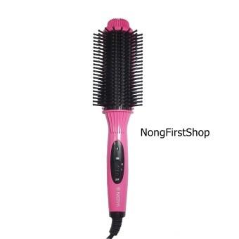 NOVA Hairหวีม้วนผม ม้วนโรล ทำวอลลุ่ม รุ่น NHC-8810 สีชมพูเข้ม