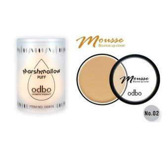Odbo ฟองน้ำไข่ Marshmallow Puff+Odbo รองพื้นเนื้อมูส Mousse Bounce up cover No.2