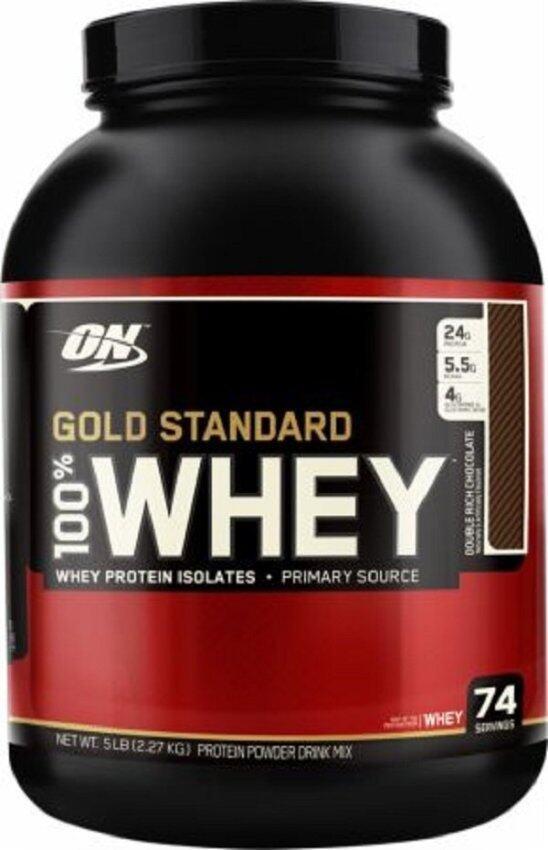สุดยอดOptimum Whey Protein Gold 5 Lbs.-Double Rich Chocolate ที่คุณต้องซื้อ
