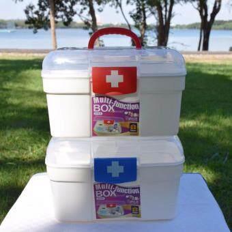 """PK MED กล่องใส่ยา size """"M"""" (สีขาว/แดง) + PK MED กล่องใส่ยา size """"M"""" (สีขาว/น้ำเงิน)"""