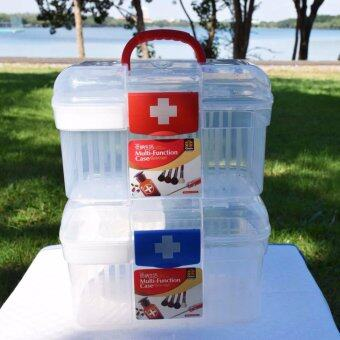 """PK MED กล่องใส่ยา size """"S"""" (สีขาว/แดง) + PK MED กล่องใส่ยา size """"S"""" (สีขาว/น้ำเงิน)"""