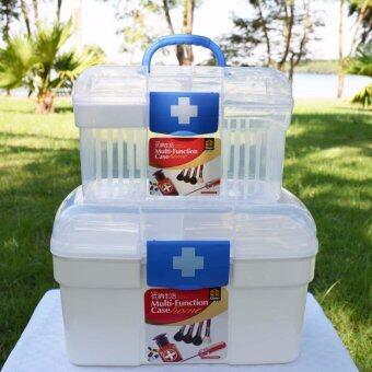 """PK MED กล่องใส่ยา size """"S"""" (สีขาว/น้ำเงิน) + PK MED กล่องใส่ยา size """"L"""" (สีขาว/น้ำเงิน)"""