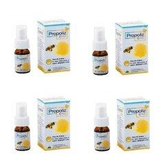 Propoliz Mouth Spray สเปรย์สำหรับช่องปากและลำคอ 15 ml. 4 ขวด