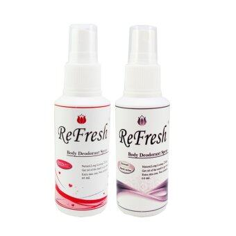 Refresh เปรย์ระงับกลิ่นกายรีเฟรช Moschi Love & Ferrari Black Series perfume 60 ml. (สีแดง/ดำ) แพ็ค 2 ขวด