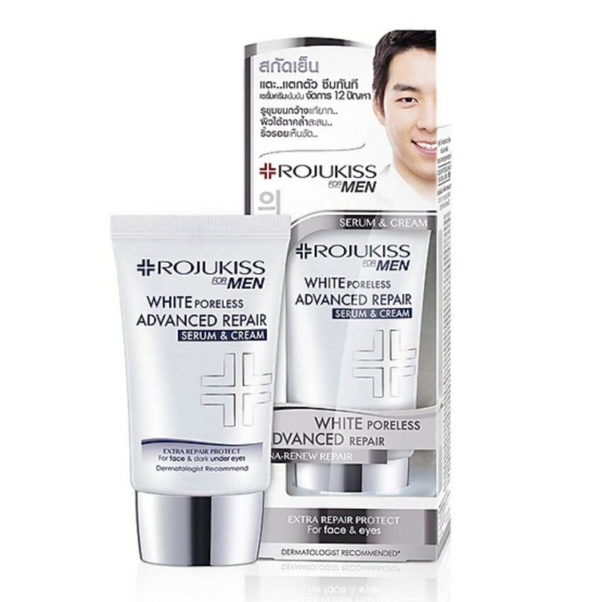 Rojukiss White Poreless Advanced Repair Serum & Cream For Men 30ml ...