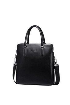 Sammons 190257-01 Genuine Cowhide Leather Briefcase/Tote Bag Black