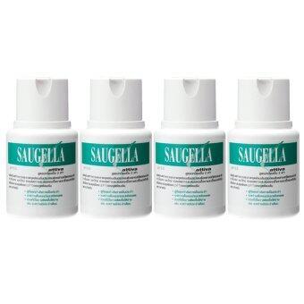 Saugella Attiva pH 3.5 ซอลเจลล่า แอ็ทติว่า 100ml (4ขวด)