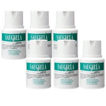 Saugella Attiva pH 3.5 ซอลเจลล่า แอ็ทติว่า 100ml (6ขวด)