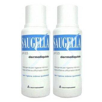 Saugella Dermoliquido 250 ml สูตรสีฟ้า (2 ขวด)