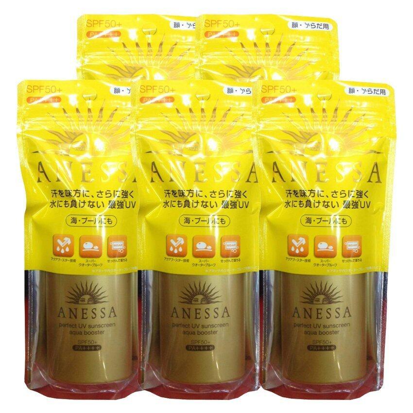 SHISEIDO Anessa Perfect Essence Sunscreen SPF50+PA+++ กันแดดชิทอง ครีมกันแดดอเนสซ่า สีทอง กันเหงื่อ กันน้ำ 60ml. ( 5 ขวด)