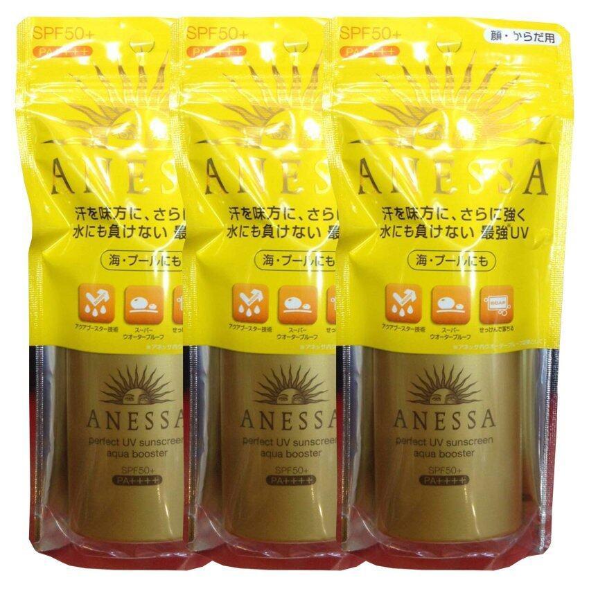 Shiseido anessa perfect uv aqua booster spf50 pa ++++ ครีมกันแดดสูตรน้ำ 60g (3 ขวด) ...