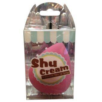 Shu Cream ฟองน้ำไข่ ( สีชมพู ) Professional Make Up Sponge by MEILINDA