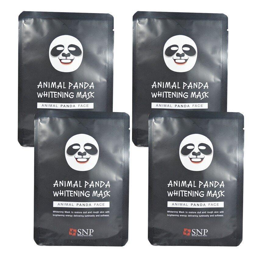 SNP Animal Panda Whitening Mask แผ่นมาส์คหน้ารูปสัตว์ (4 แผ่น) ...
