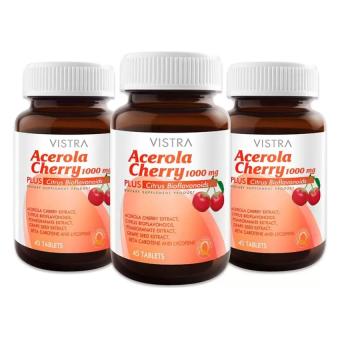 Vistra Acerola Cherry 1,000 mg (45x3ขวด)
