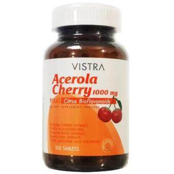 Vistra Acerola Cherry 1000mg วิสทร้า อะเซโรลาเชอร์รี่ 1000มก. 100 เม็ด
