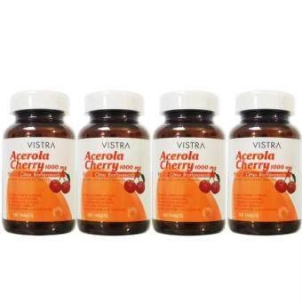Vistra Acerola Cherry 1000mg 100เม็ด(4ขวด)วิสทร้า อะเซโรลาเชอร์รี่1000มก.