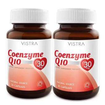 VISTRA Coenzyme Q10 Natural Source (30 Caps) 2 Bot วิสทร้า โคเอ็นไซต์ คิว10 แพ็คคู่