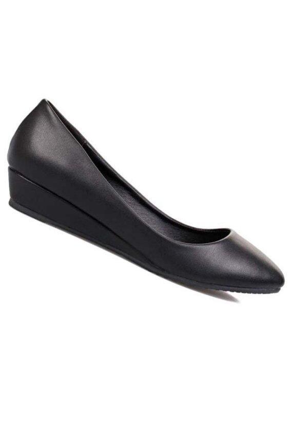 5T&P รองเท้าแฟชั่นคัชชูผู้หญิง สีดำ