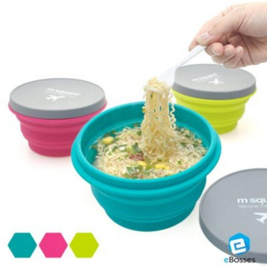 1 SET 3 units of Outdoor Silicone Bowl Cup Picnic Bowl Creative Travel Bowl - intl