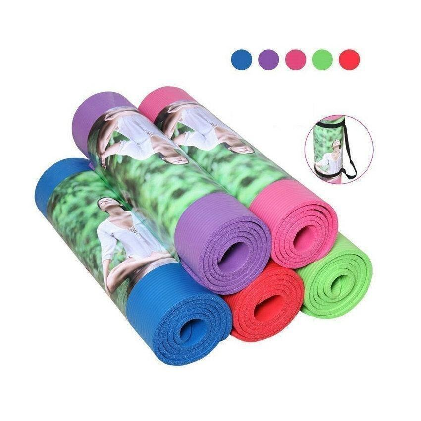 10mm Thicken Non-Slip TPE Yoga Mats Pad Mattress Waterproof Fitness Exercise - intl